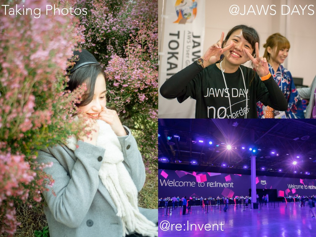 @JAWS DAYS @re:Invent Taking Photos