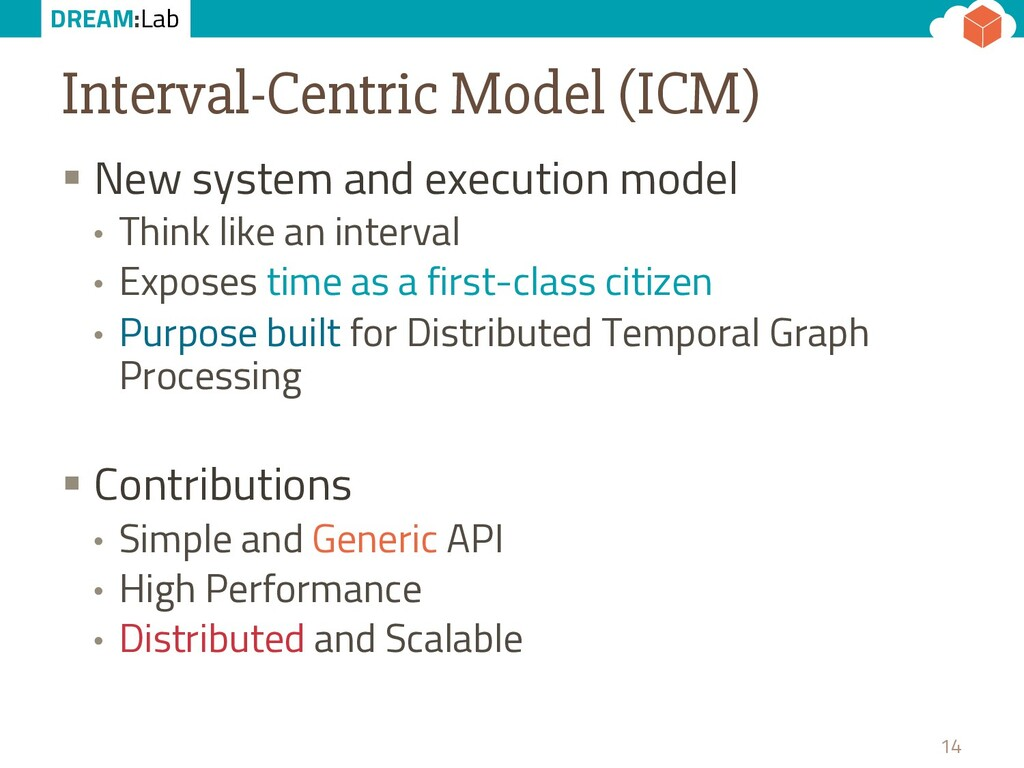 DREAM:Lab Interval-Centric Model (ICM) § New sy...
