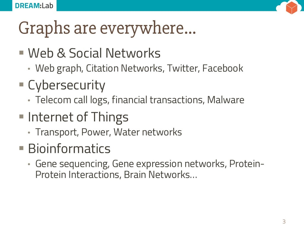DREAM:Lab Graphs are everywhere… § Web & Social...
