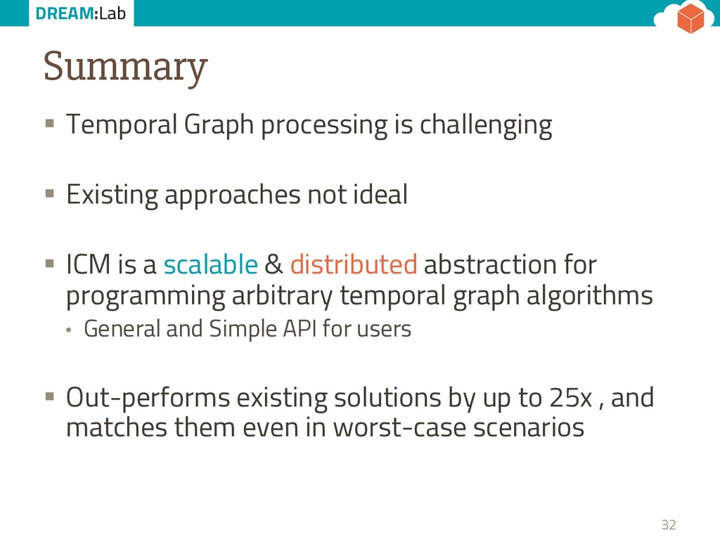 DREAM:Lab Summary § Temporal Graph processing i...