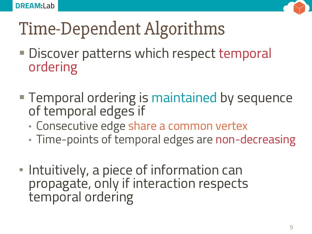 DREAM:Lab Time-Dependent Algorithms § Discover ...