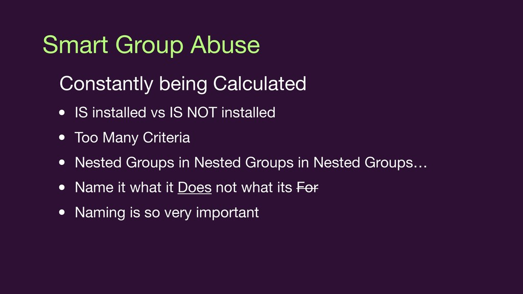 Smart Group Abuse Constantly being Calculated  ...