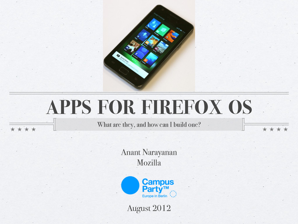 APPS FOR FIREFOX OS What are they, and how can ...