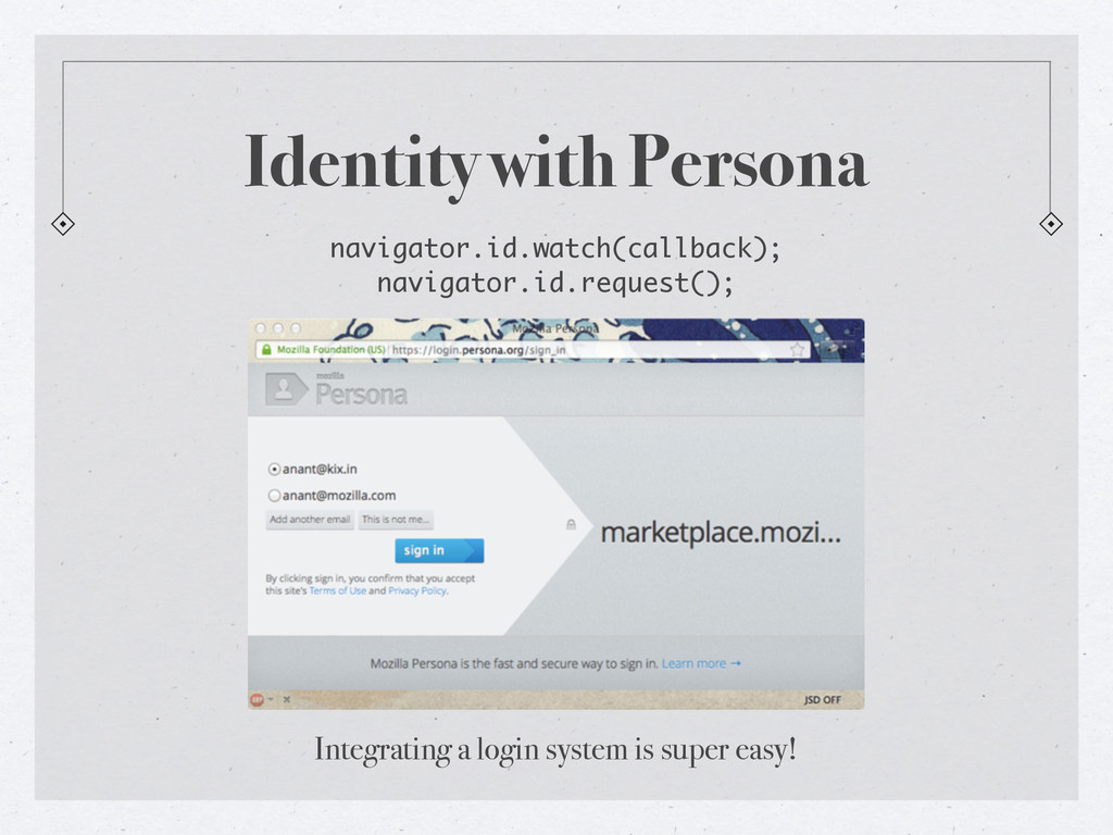 Identity with Persona navigator.id.watch(callba...