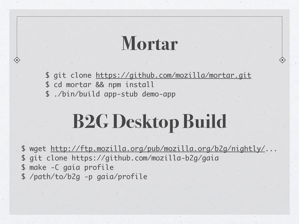 Mortar $ git clone https://github.com/mozilla/m...