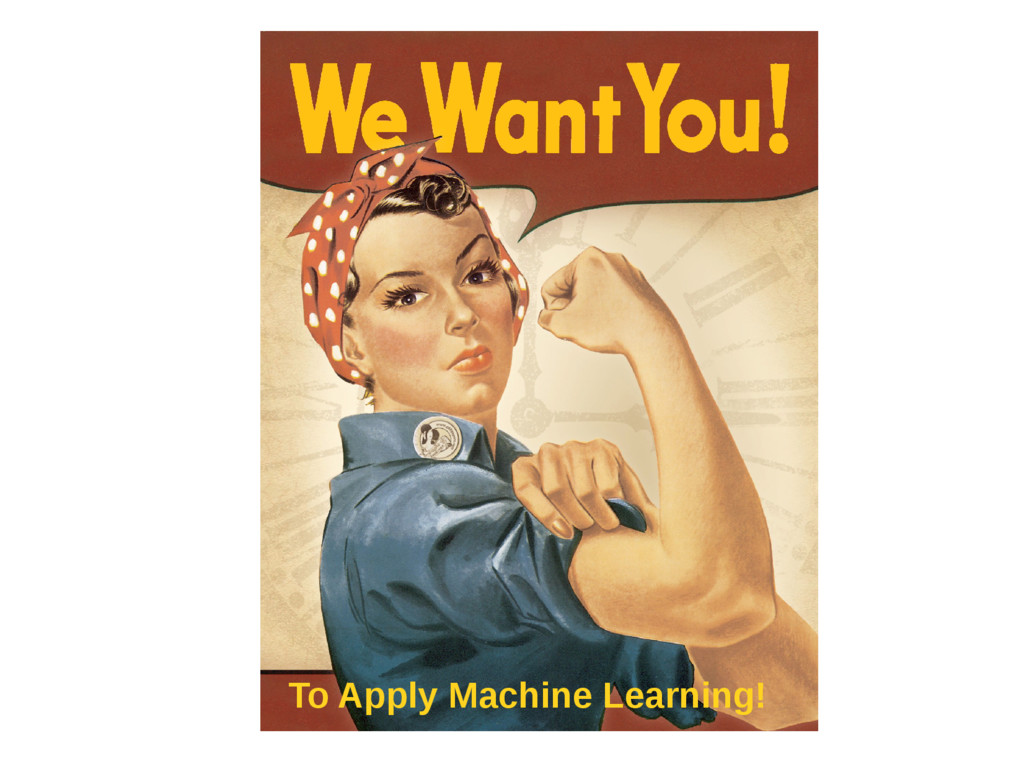 To Apply Machine Learning!