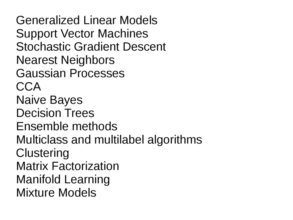 Generalized Linear Models Support Vector Machin...