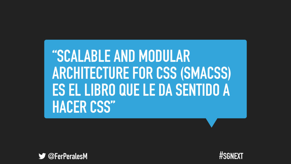 """@FerPeralesM #SGNEXT """"SCALABLE AND MODULAR ARCH..."""