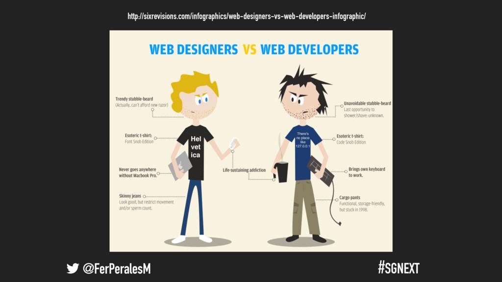 @FerPeralesM #SGNEXT Programadores vs. Diseñado...