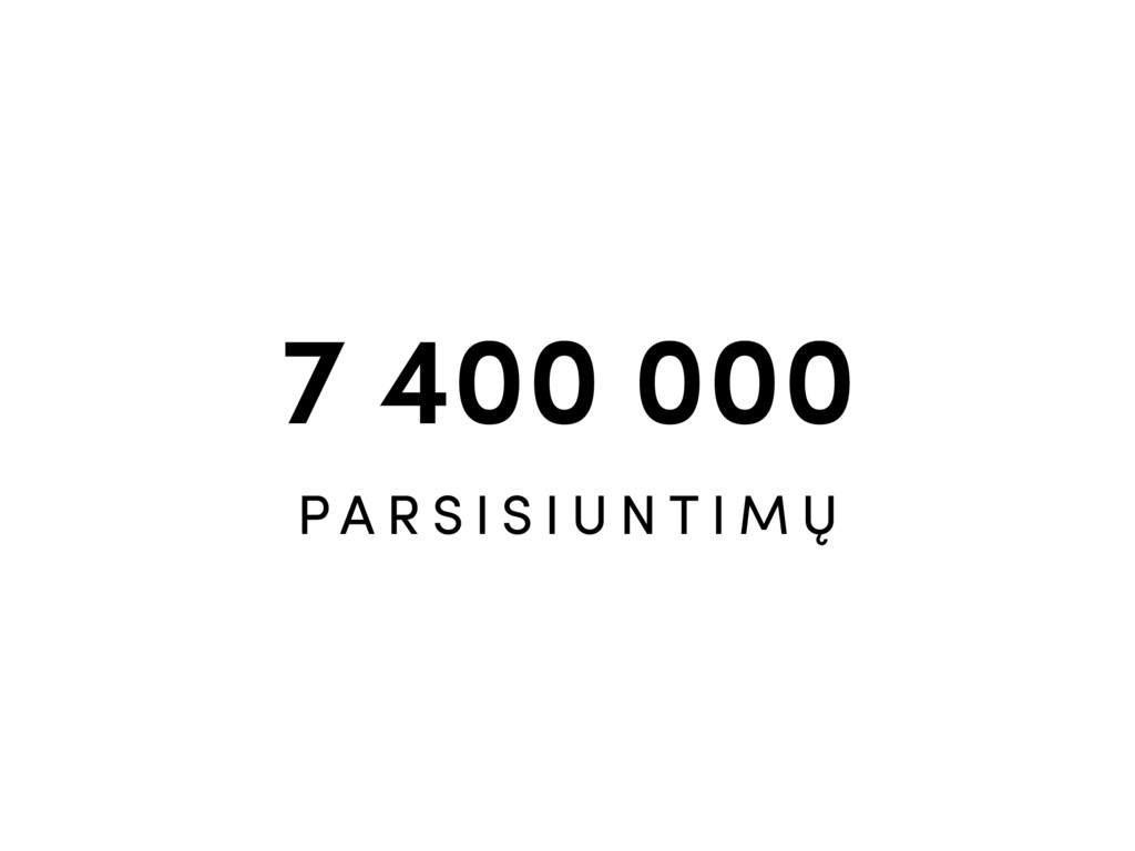 7 400 000 P A R S I S I U N T I M Ų