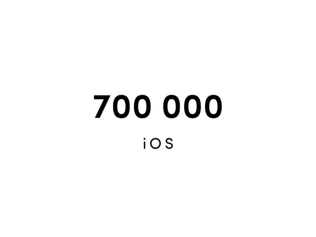 700 000 i O S