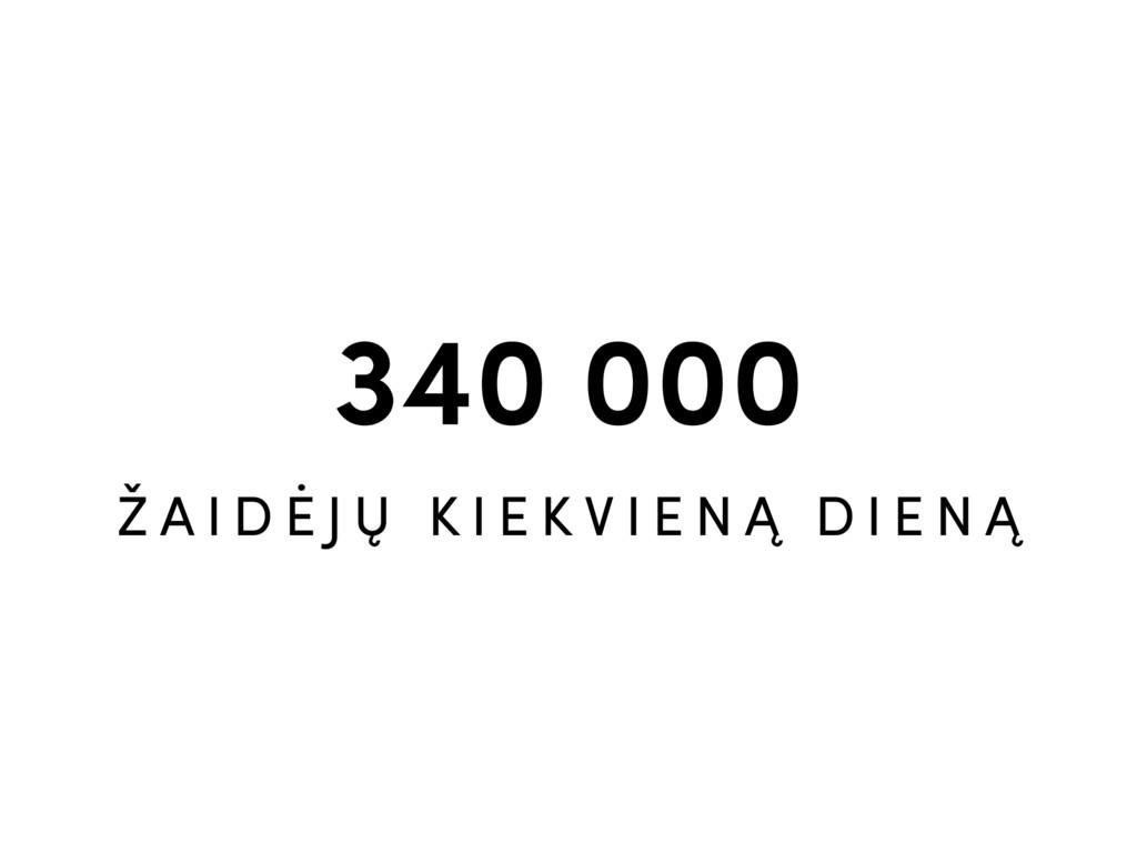 340 000 Ž A I D Ė J Ų K I E K V I E N Ą D I E N...
