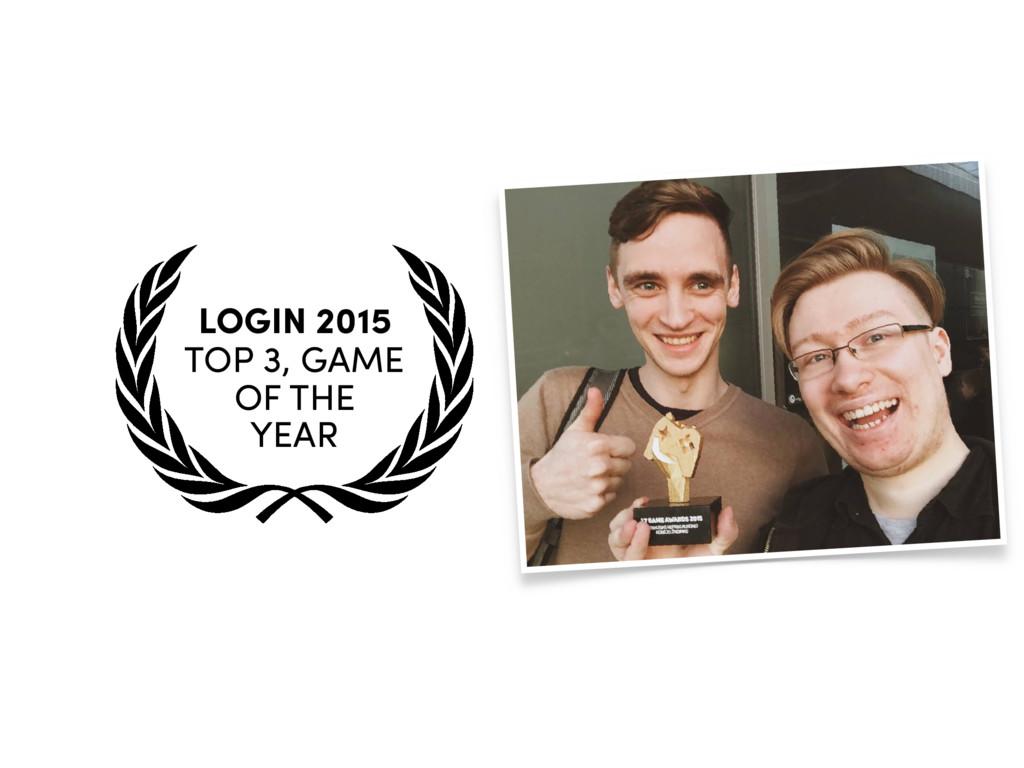 LT GAME  AWARDS 2015 BEST INDIE  GAME LOGIN 2...