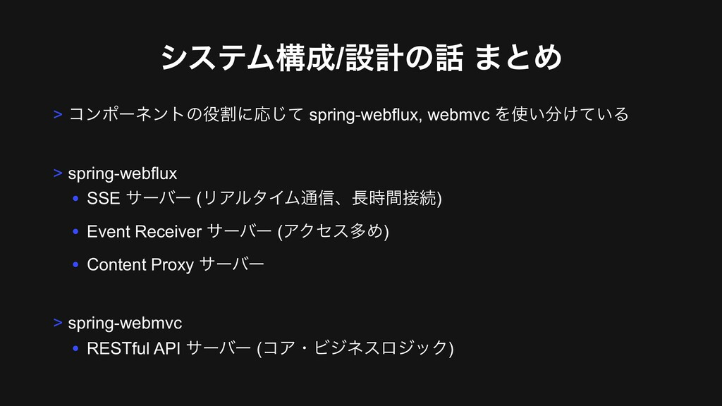 γεςϜߏ/ઃܭͷ ·ͱΊ > ίϯϙʔωϯτͷׂʹԠͯ͡ spring-webflux...