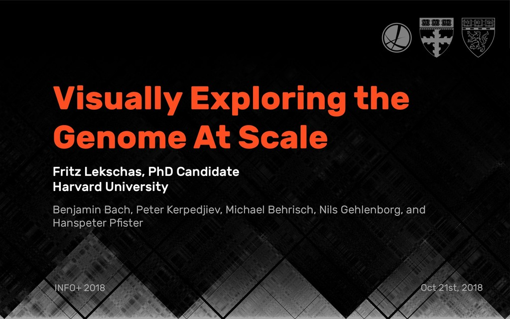 Visually Exploring the Genome At Scale Fritz Le...