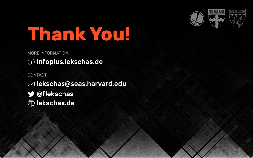 Thank You! MORE INFORMATION infoplus.lekschas.d...