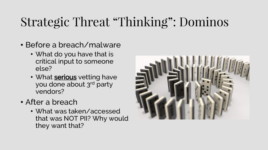 "Strategic Threat ""Thinking"": Dominos • Before a..."