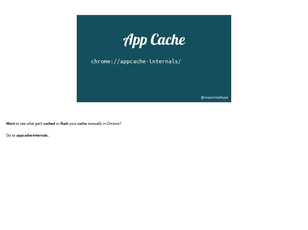 App Cache chrome://appcache-internals/ ! @mispr...