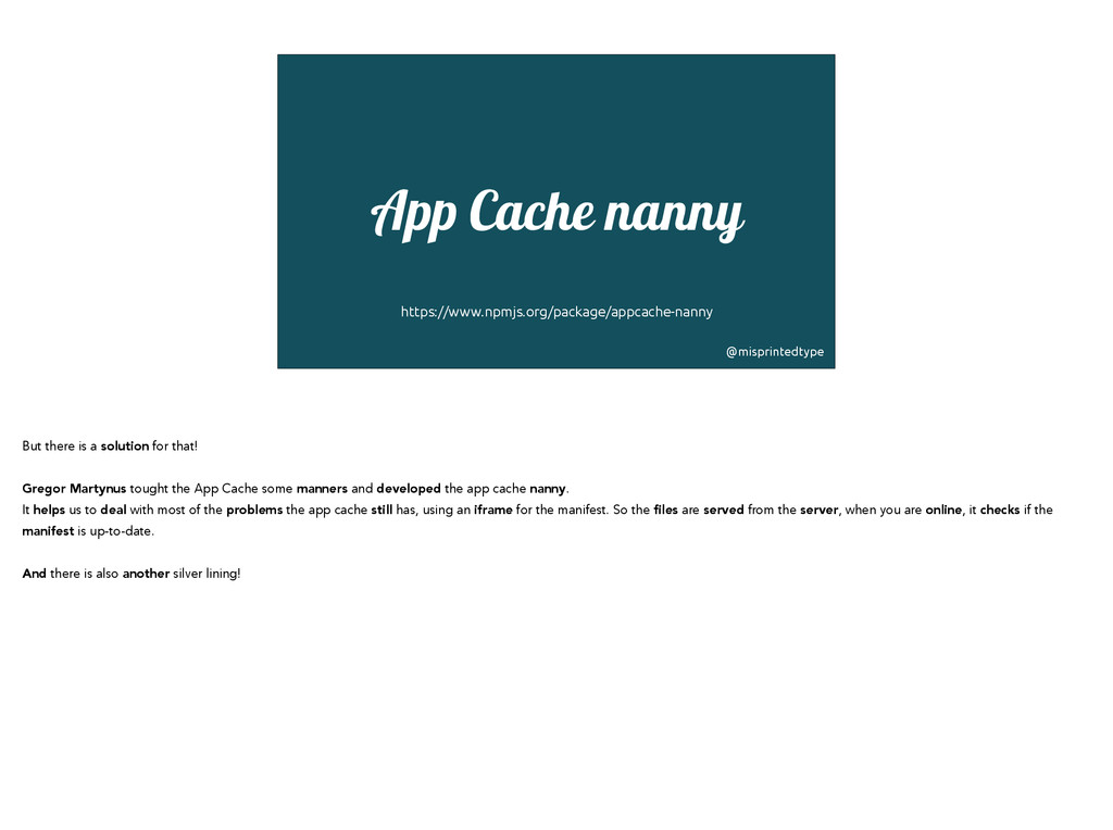 ! App Cache nanny ! ! https://www.npmjs.org/pac...