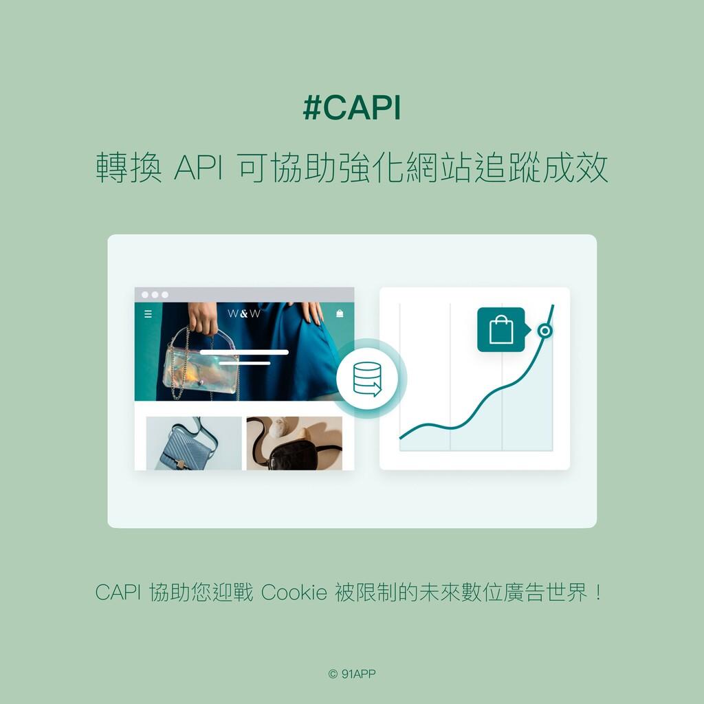 © 91APP #CAPI 轉換 API 可協助強化網站追蹤成效 CAPI 協助您迎戰 Coo...