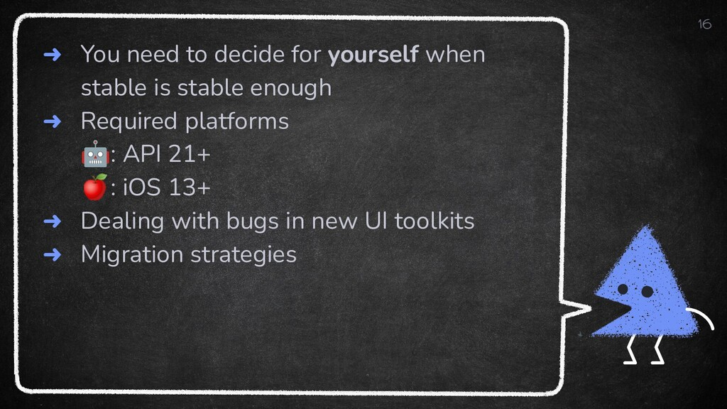 ➜ You need to decide for yourself when stable i...