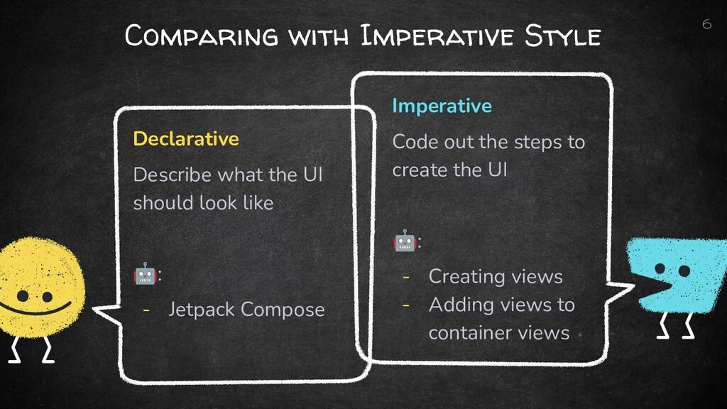 Declarative Describe what the UI should look li...