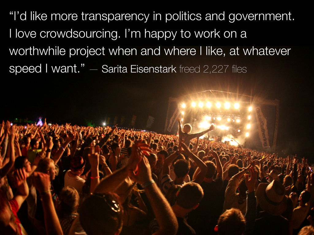 """""""I'd like more transparency in politics and gov..."""
