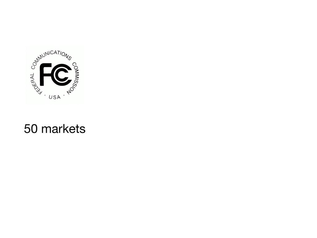 50 markets