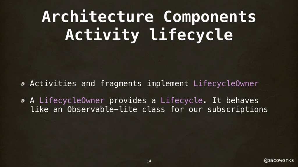 @pacoworks Architecture Components Activity lif...