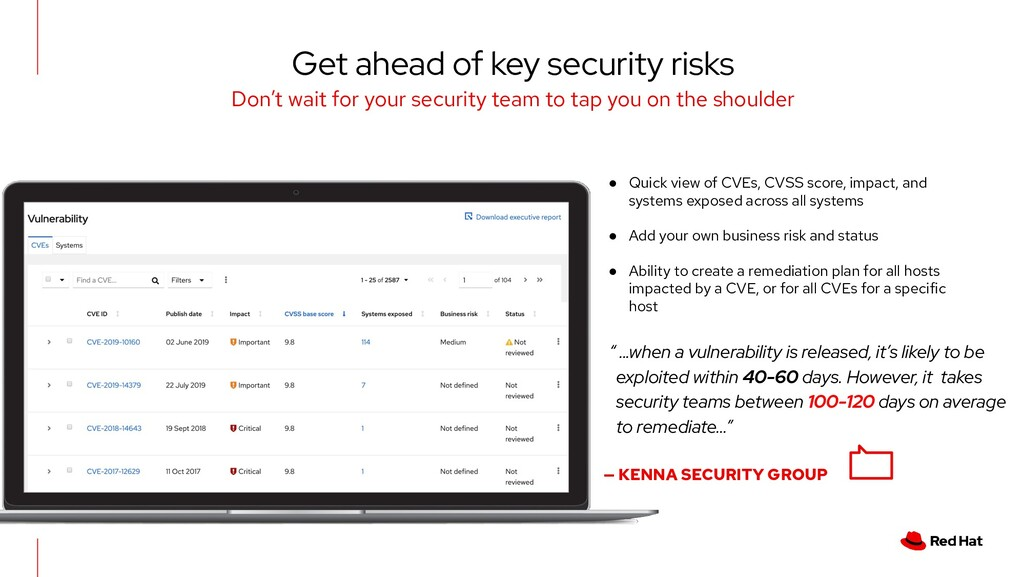 Get ahead of key security risks Don't wait for ...