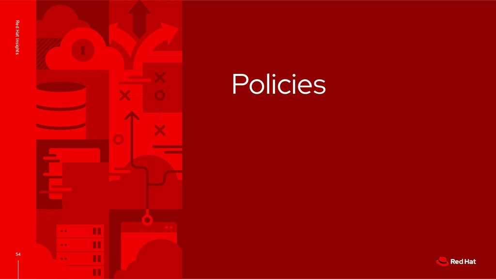 Policies 54 Red Hat Insights