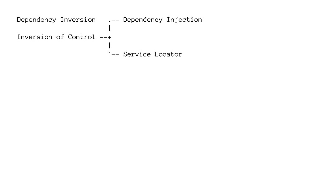 Dependency Inversion .-- Dependency Injection |...
