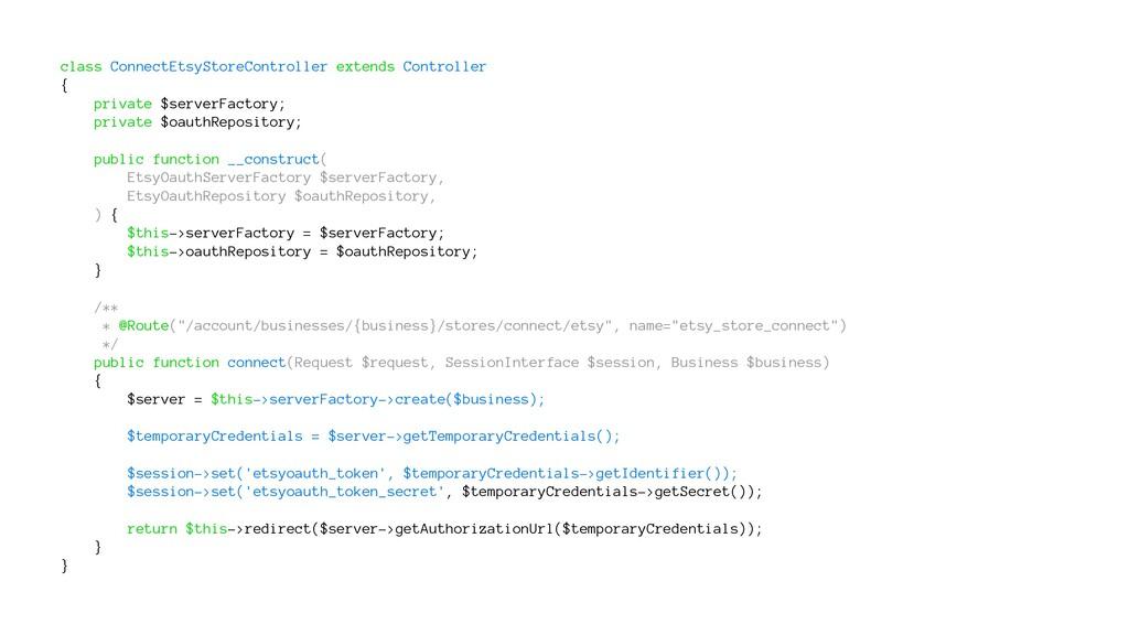 class ConnectEtsyStoreController extends Contro...