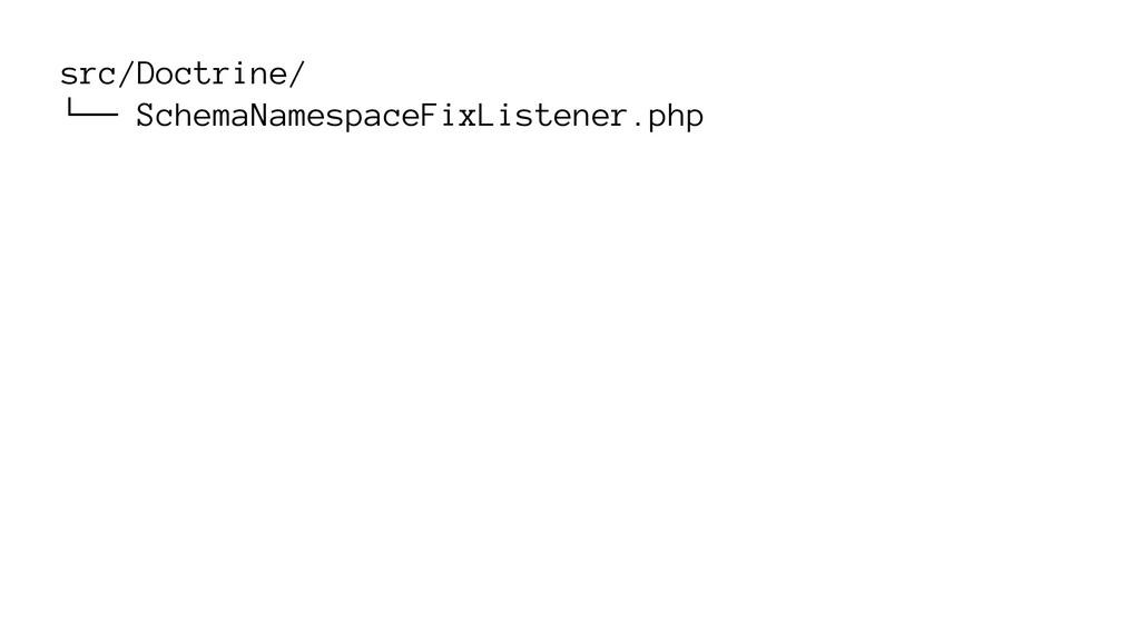 src/Doctrine/ └── SchemaNamespaceFixListener.php