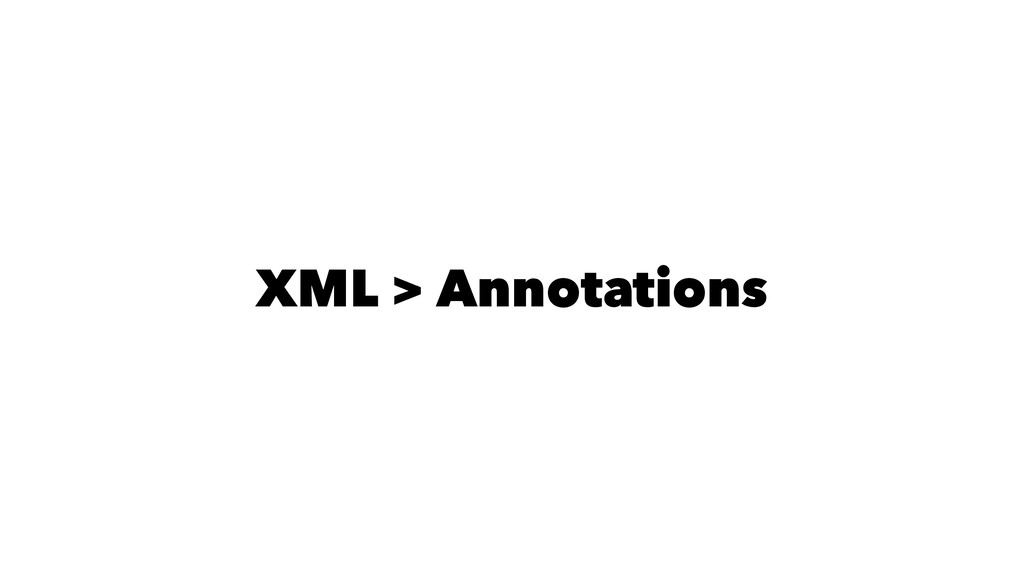 XML > Annotations