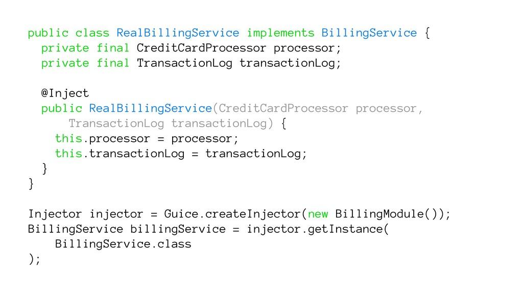 public class RealBillingService implements Bill...