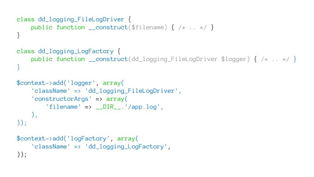 class dd_logging_FileLogDriver { public functio...