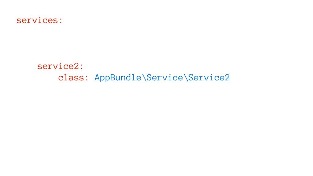 services: service2: class: AppBundle\Service\Se...