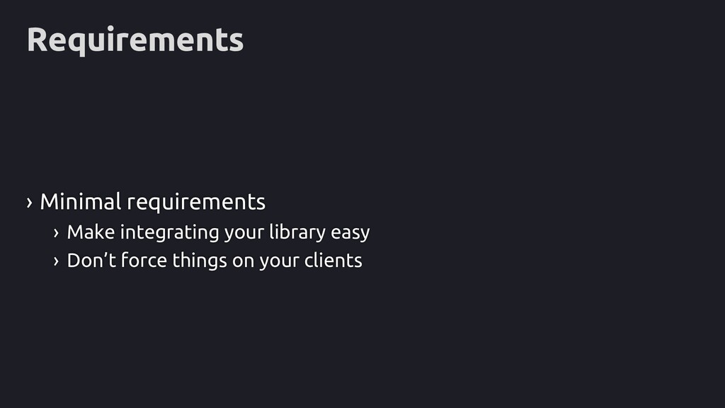 Requirements › Minimal requirements › Make inte...