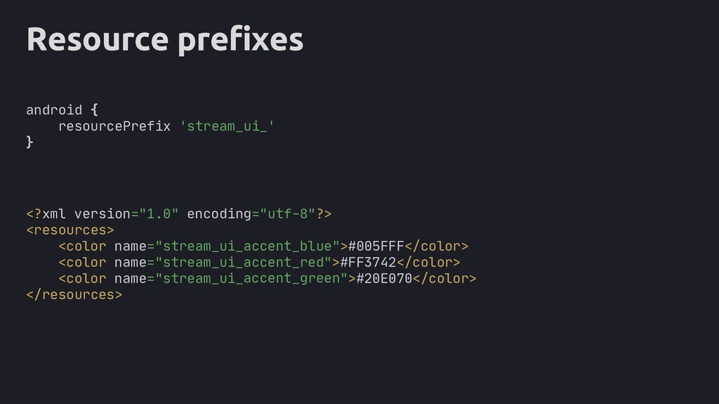 "Resource prefixes <?xml version=""1.0"" encoding=..."