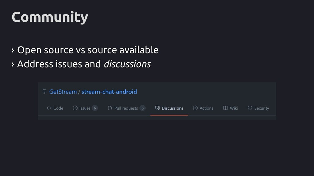 Community › Open source vs source available › A...