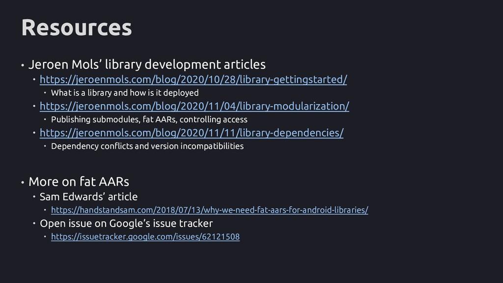 Resources • Jeroen Mols' library development ar...