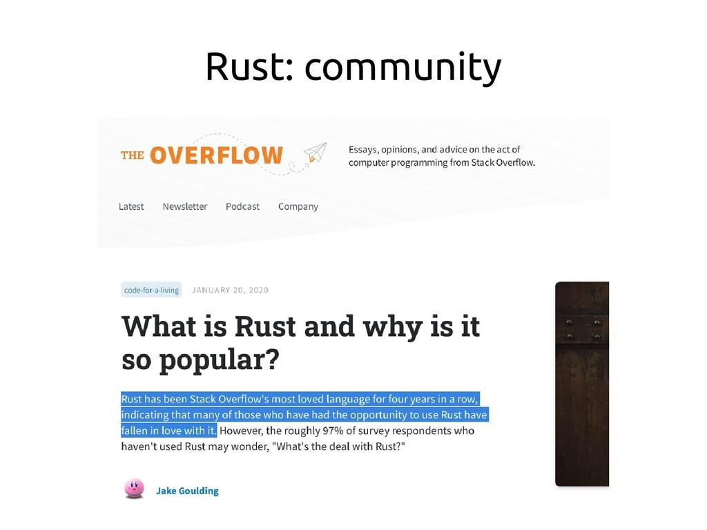 Rust: community