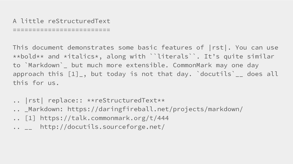 A little reStructuredText =====================...