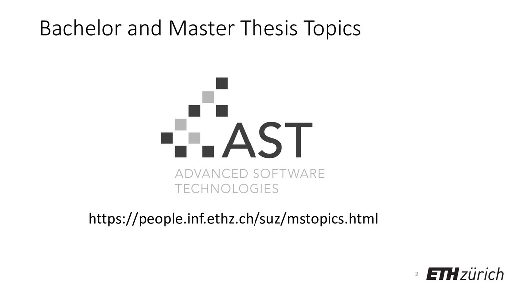 Bachelor and Master Thesis Topics 2 https://peo...