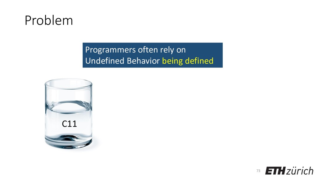 Problem 73 Programmers often rely on Undefined ...
