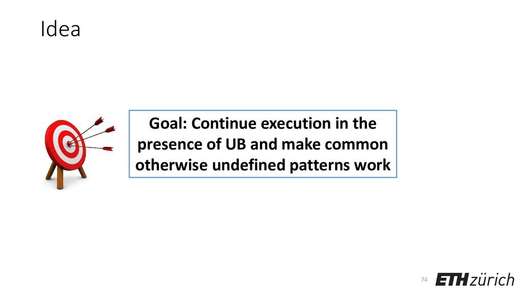 Idea 74 Goal: Continue execution in the presenc...
