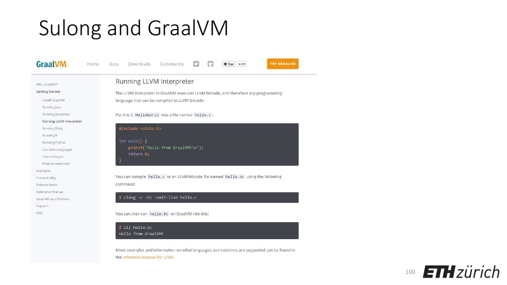 Sulong and GraalVM 100