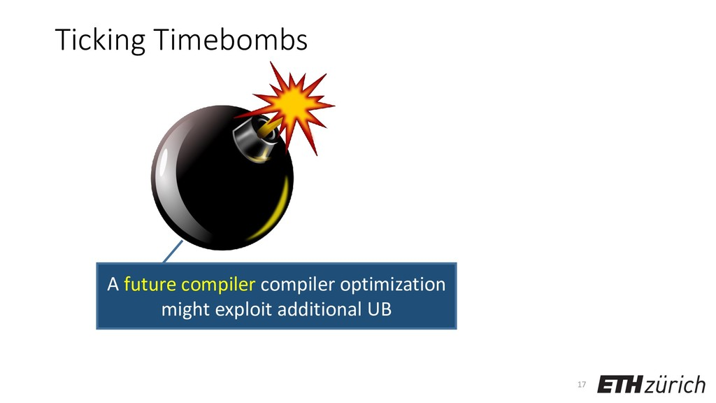 Ticking Timebombs 17 A future compiler compiler...