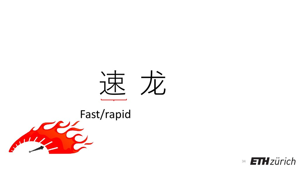 34 速 龙 Fast/rapid